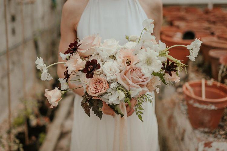 Blush Pink And Burgundy Wedding Flowers