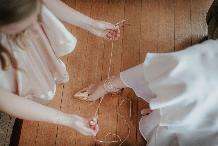 ASOS Metallic Wedding Shoes