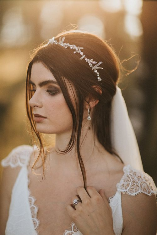 Natural Bridal Hair & Makeup by Jenn Edwards & Co. | Romantic, Bohemian Elopement in the Peaks by Natalie Hewitt Wedding Planner | Henry Lowther Photography