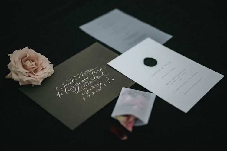 Georgina Read Creative Wedding Stationery | Romantic, Bohemian Elopement in the Peaks by Natalie Hewitt Wedding Planner | Henry Lowther Photography