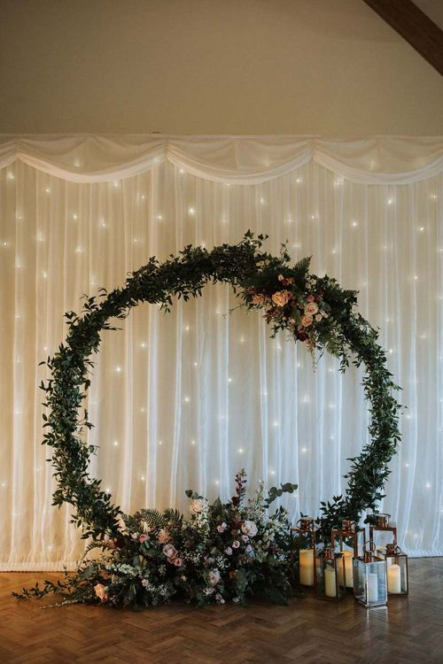 Fairy curtain back drop and floral moon gate
