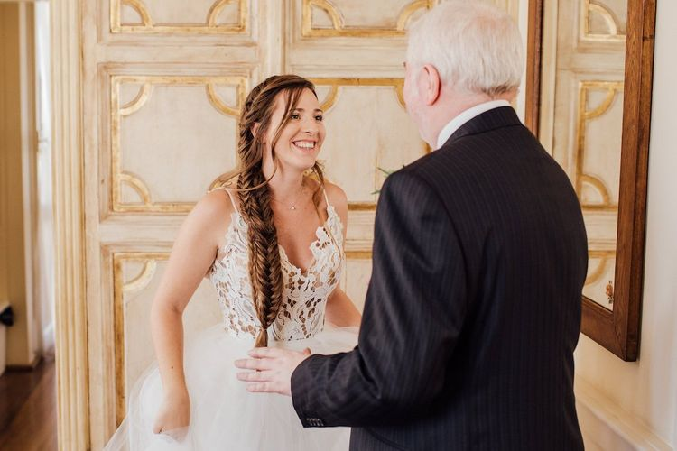 Bride Reveals Dress to Father of The Bride