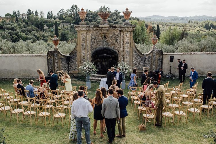 Outdoor Ceremony Space at Florence Villa