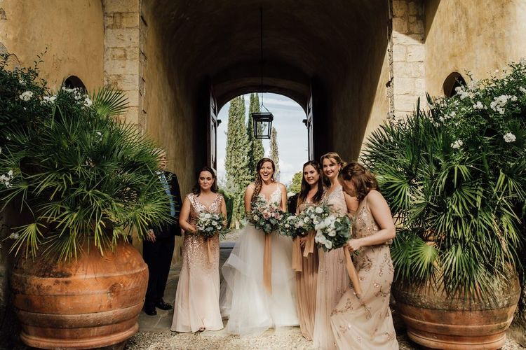 Bridal Party Before Ceremony