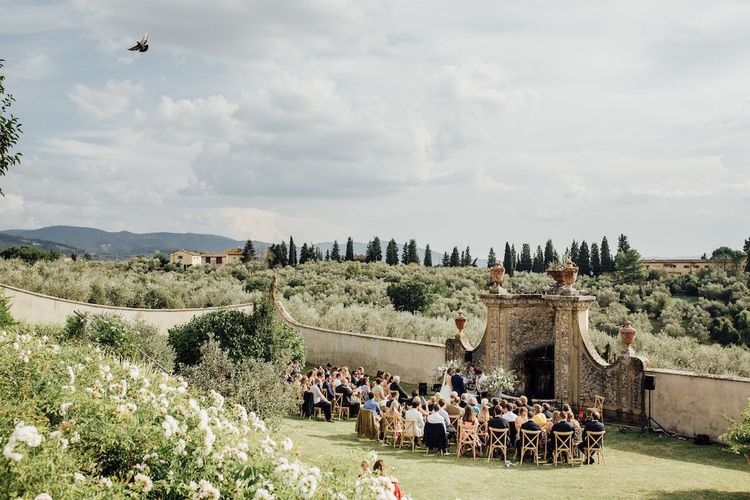 Outdoor Wedding Ceremony In Florence