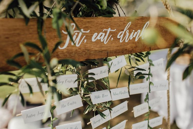 Table Seating Plan For Outdoor Ceremony