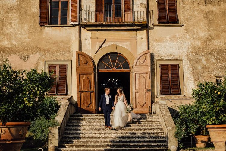 Bride and Groom At Florence Wedding Venue