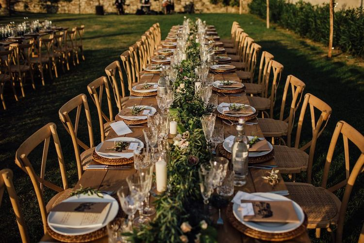 Table Decor for Rustic Wedding