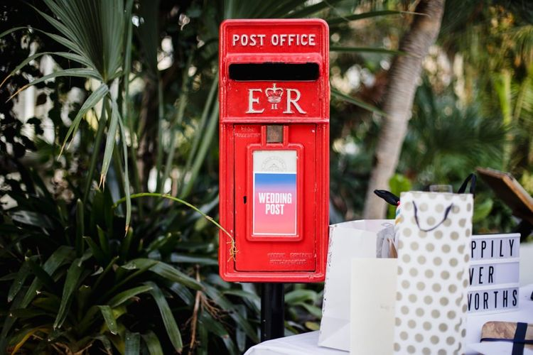 Wedding post box for cards