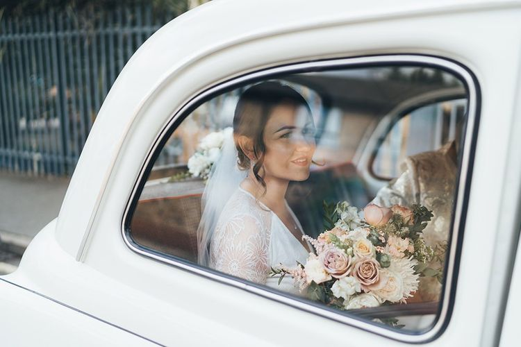 Vintage London Taxi at Wedding Ceremony