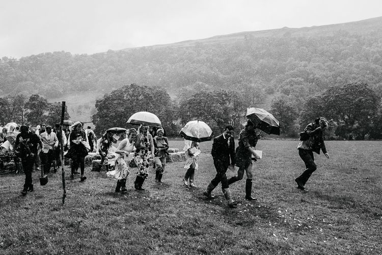 Rained off Outdoor Wedding Ceremony   Brightly Coloured Festival Wedding with Outdoor Humanist Ceremony & Tipi Reception on the Yorkshire Dales   Tim Dunk Photography