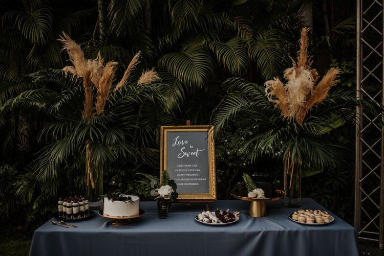 Wedding cake and dessert table at Thailand wedding