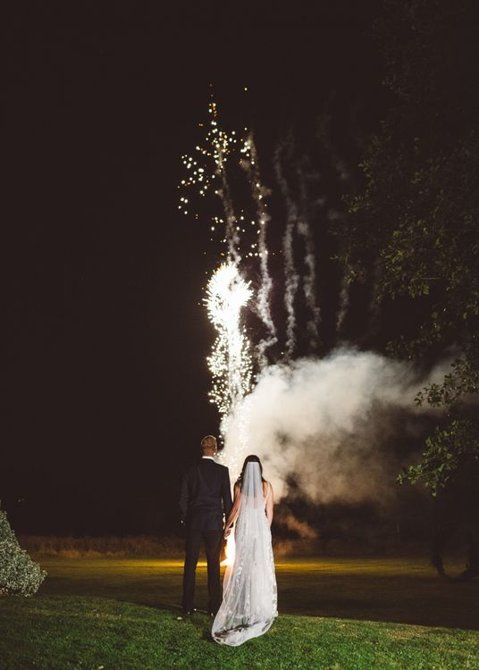 Firework display to end the night at Crouchers Orchards for intimate and relaxed wedding