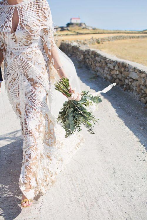 Rue De Seine Dakota Wedding Dress with Fringe Detail
