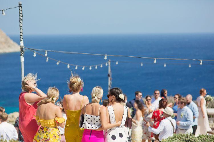 Wedding Guests Outfits at Mykonos Destination Wedding