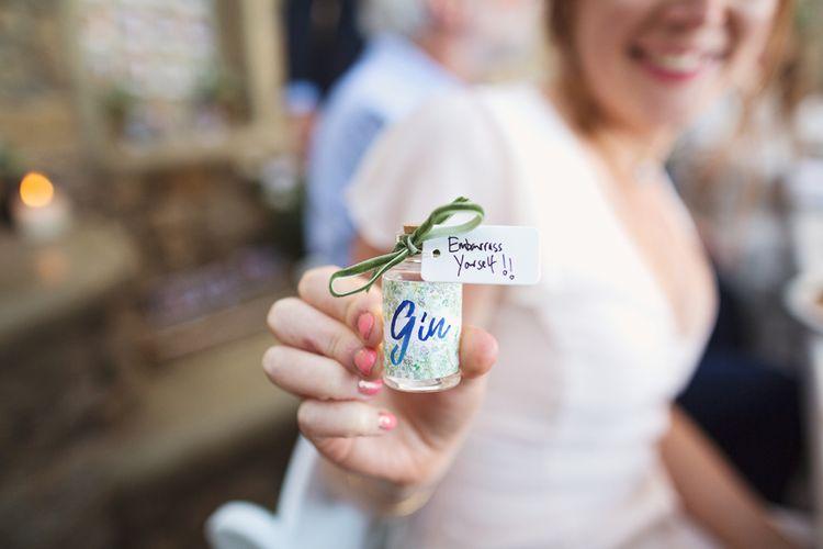 Miniature Gin Favour Bottles
