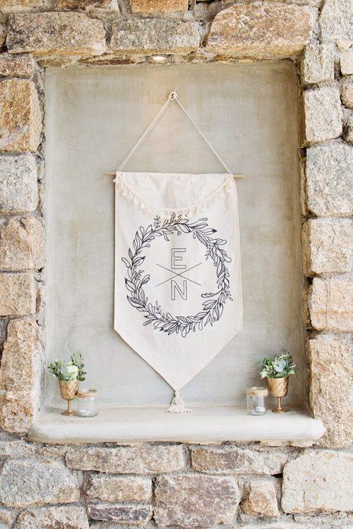 E & N Flag Wedding Decor