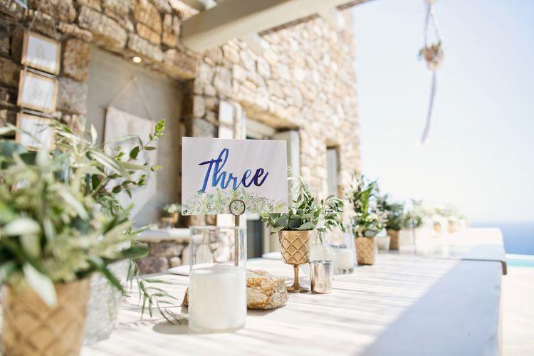 Table Number illustration Wedding Decor