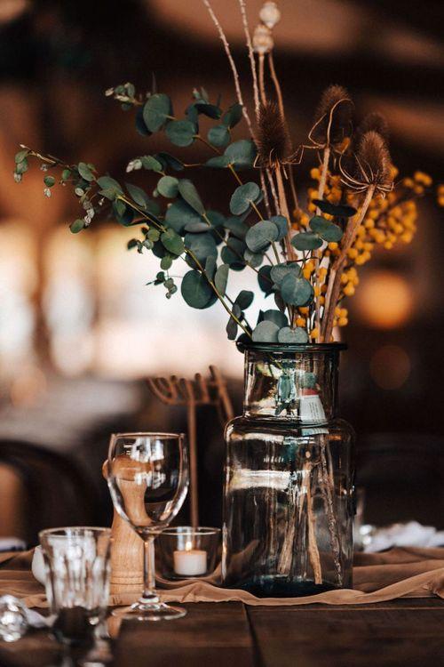 Dried wedding flower for Autumn wedding