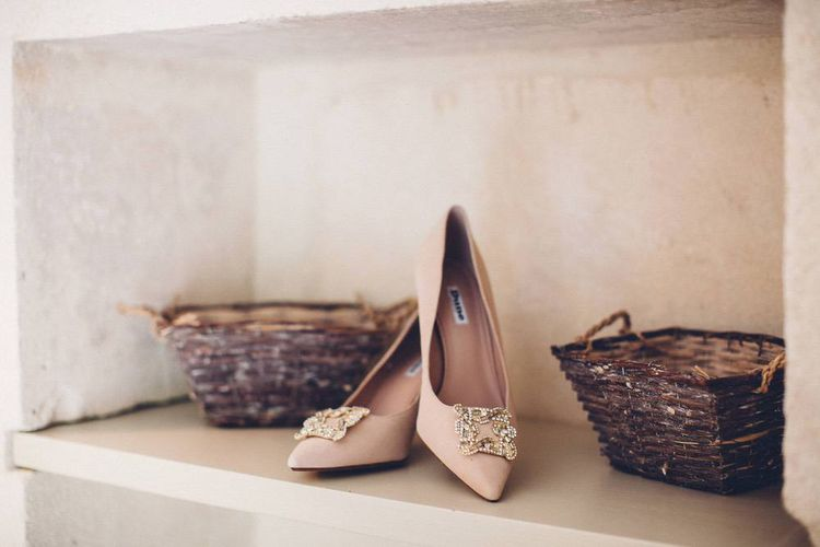 Dune Wedding Shoes | Outdoor Destination Wedding at Le Peit Hameau Wedding Venue Provence, South of France Planned by By Mademoiselle | Lovestruck Photography