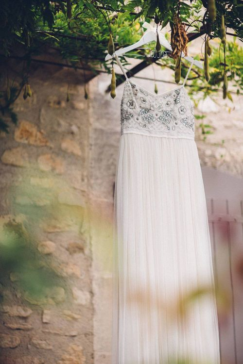 Needle & Thread Wedding Dress | Outdoor Destination Wedding at Le Peit Hameau Wedding Venue Provence, South of France Planned by By Mademoiselle | Lovestruck Photography