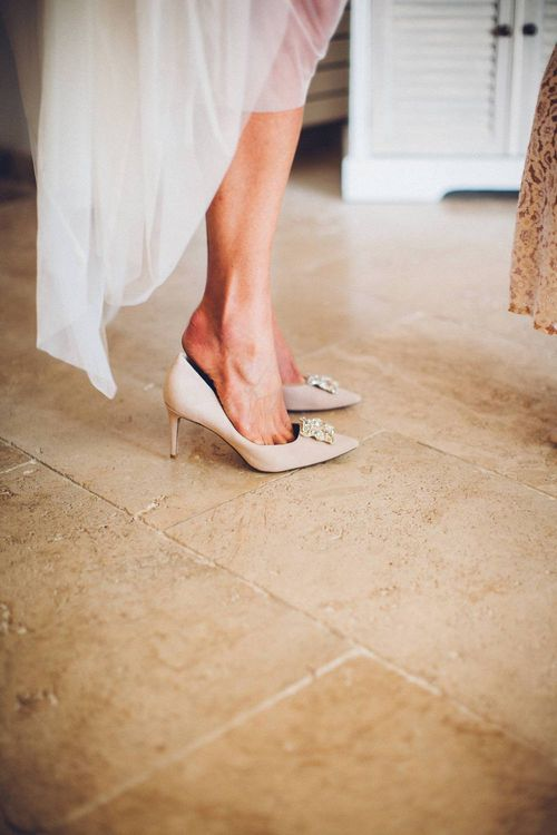 Dune Bridal Shoes | Outdoor Destination Wedding at Le Peit Hameau Wedding Venue Provence, South of France Planned by By Mademoiselle | Lovestruck Photography