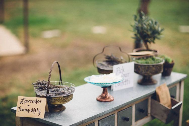 Confetti Station | Outdoor Destination Wedding at Le Peit Hameau Wedding Venue Provence, South of France Planned by By Mademoiselle | Lovestruck Photography