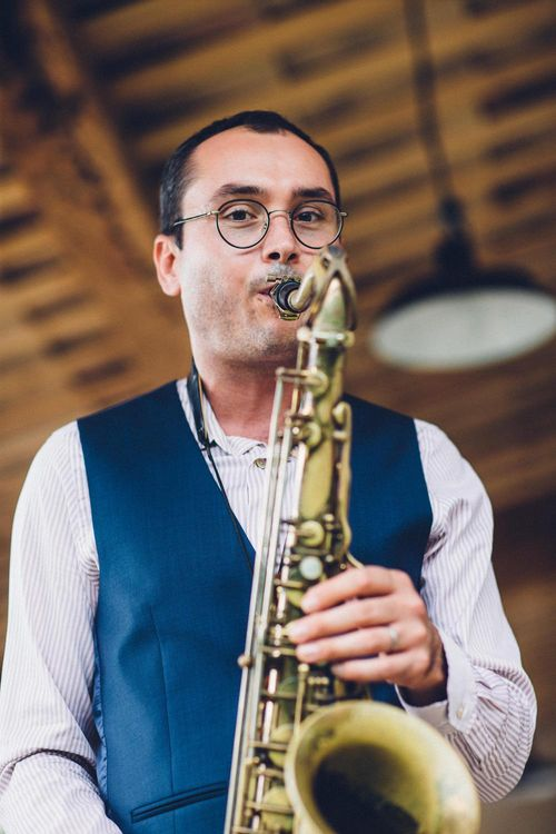 Saxophonist | Wedding Entertainment | Outdoor Destination Wedding at Le Peit Hameau Wedding Venue Provence, South of France Planned by By Mademoiselle | Lovestruck Photography