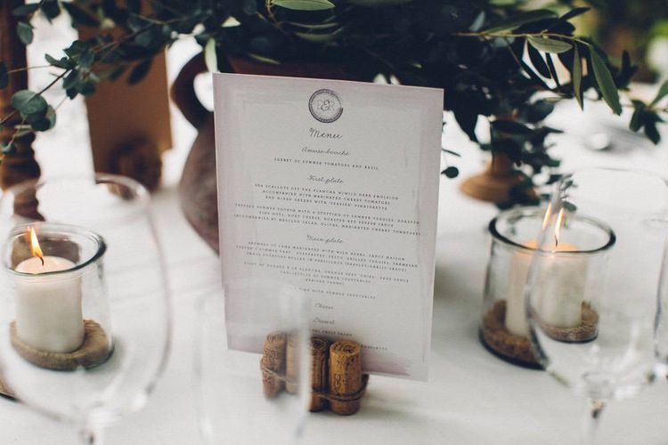 Menu Wedding Stationery | Outdoor Destination Wedding at Le Peit Hameau Wedding Venue Provence, South of France Planned by By Mademoiselle | Lovestruck Photography