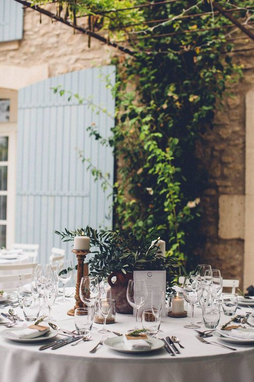 Table Decor | Outdoor Destination Wedding at Le Peit Hameau Wedding Venue Provence, South of France Planned by By Mademoiselle | Lovestruck Photography