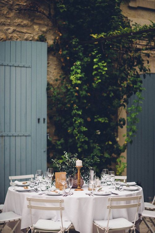 Table Centrepiece | Outdoor Destination Wedding at Le Peit Hameau Wedding Venue Provence, South of France Planned by By Mademoiselle | Lovestruck Photography