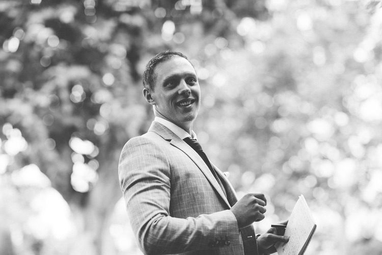 Groom in Reiss Chinos & Blazer | Outdoor Destination Wedding at Le Peit Hameau Wedding Venue Provence, South of France Planned by By Mademoiselle | Lovestruck Photography