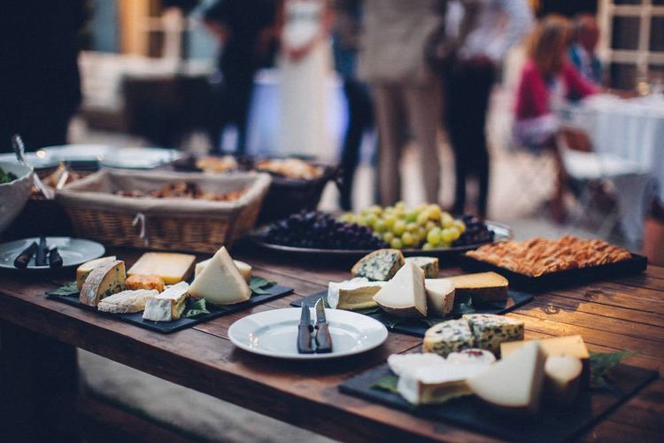 Cheese Board | Outdoor Destination Wedding at Le Peit Hameau Wedding Venue Provence, South of France Planned by By Mademoiselle | Lovestruck Photography