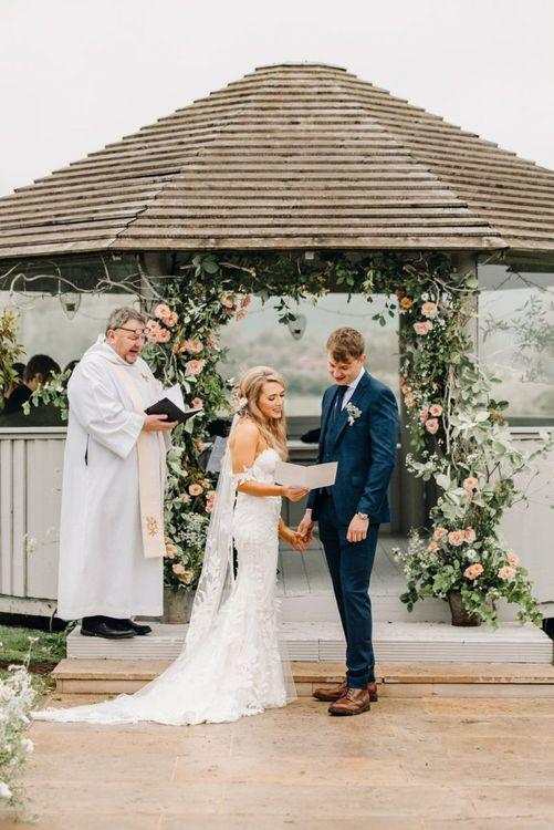 Wedding songs at Yorkshire Wedding Barn ceremony