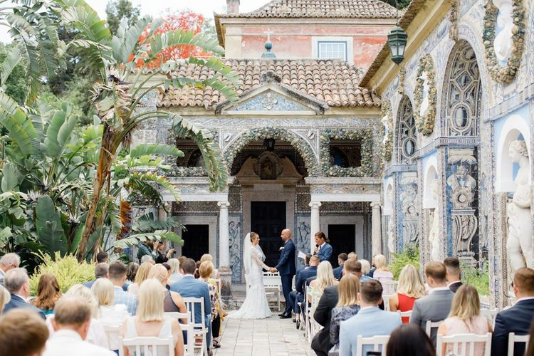 Lisbon Wedding with Outdoor Ceremony at Palácio Fronteira