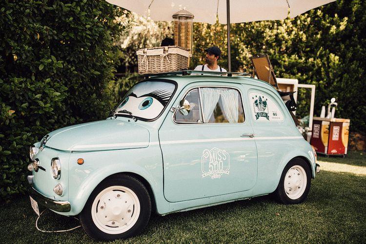 Fiat 500 Ice-Cream Van | Stylish Tuscan Wedding at Vignamaggio Planned by The Wedding Boutique Italy | Samuel Docker Photography | Paul Vann Films