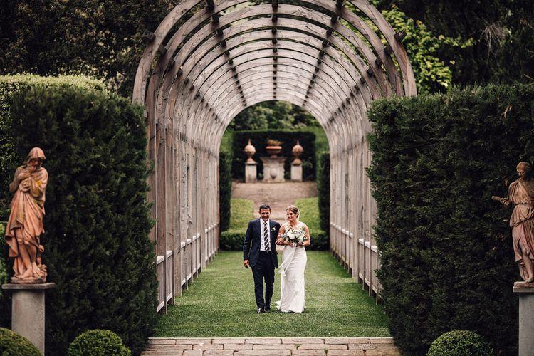 Bridal Entrance in Lace Pronovias Wedding Dress | Stylish Tuscan Wedding at Vignamaggio Planned by The Wedding Boutique Italy | Samuel Docker Photography | Paul Vann Films