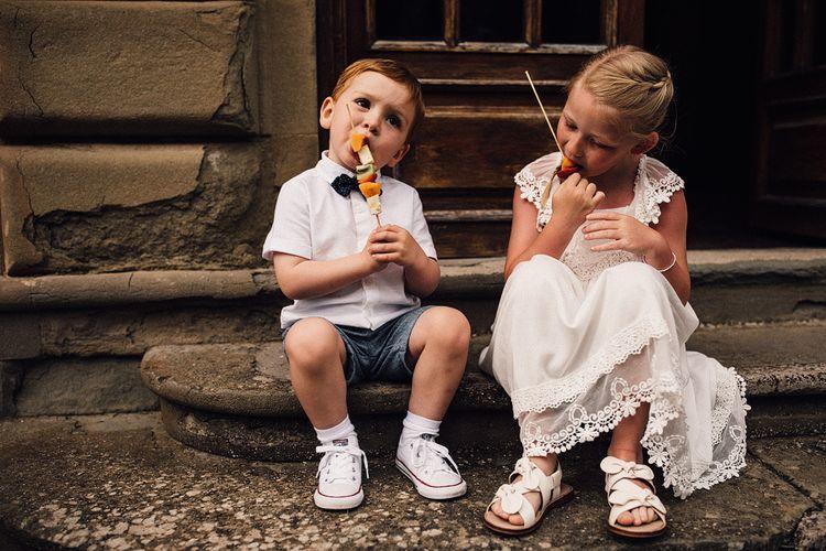 Cute Page Boy & Flower Girl | Stylish Tuscan Wedding at Vignamaggio Planned by The Wedding Boutique Italy | Samuel Docker Photography | Paul Vann Films