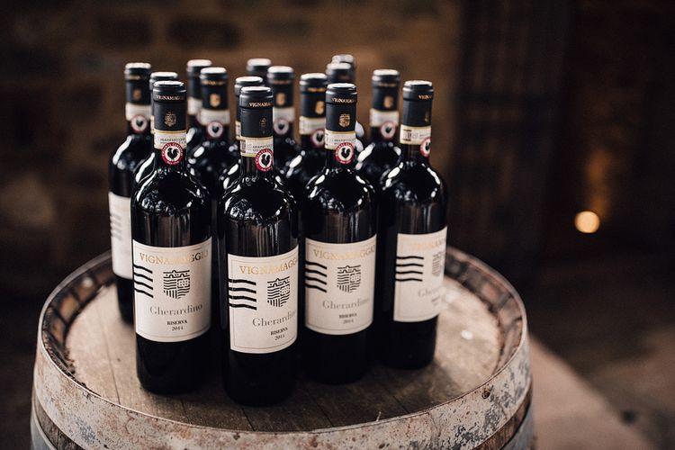 Wine Bottles | Stylish Tuscan Wedding at Vignamaggio Planned by The Wedding Boutique Italy | Samuel Docker Photography | Paul Vann Films
