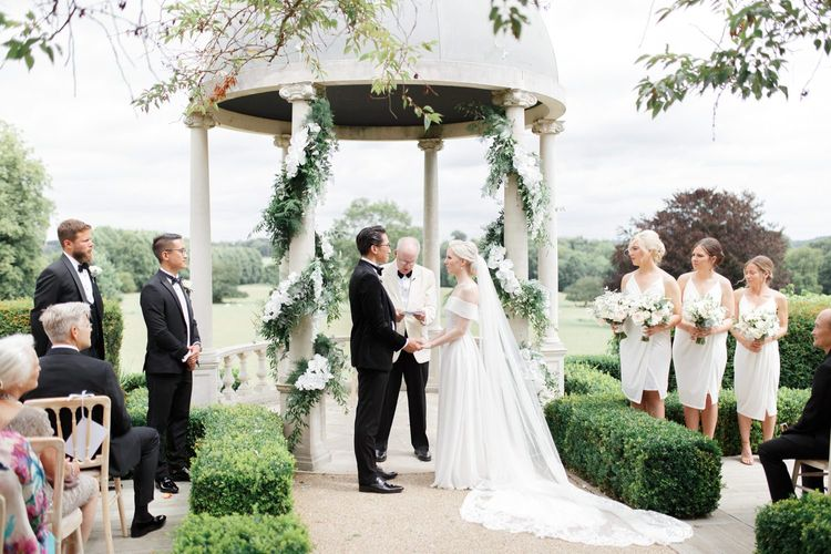 Outdoor Froyle Park wedding ceremony