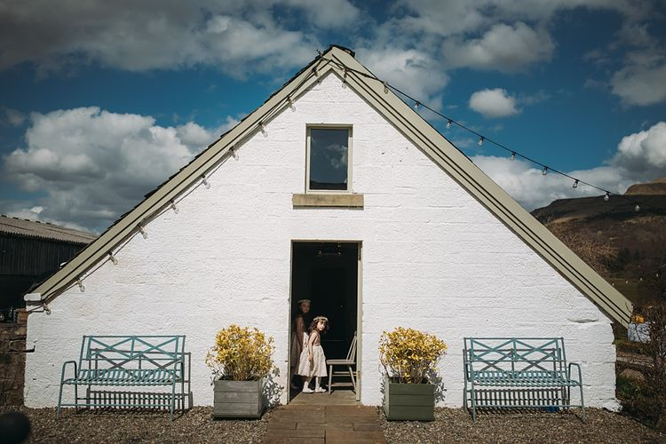 The Tin Shed At Knockraich Farm Rustic Wedding With Bridesmaids In Maya ASOS Sequin And Tulle Dresses With Images From Jo Donaldson Photography