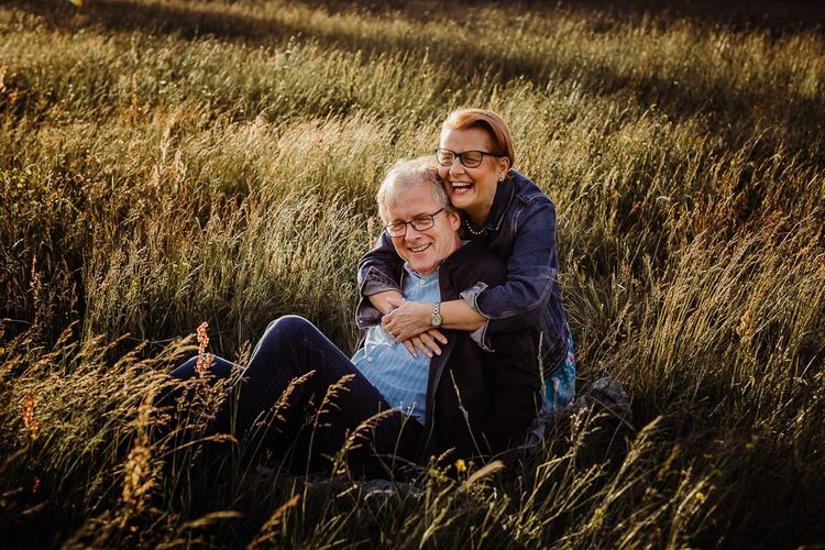Mature couple engagement shoot by Cat Stephens Photography