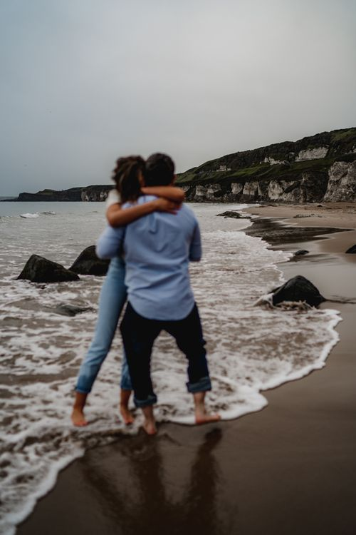 Beach engagement photos by LIT Photography
