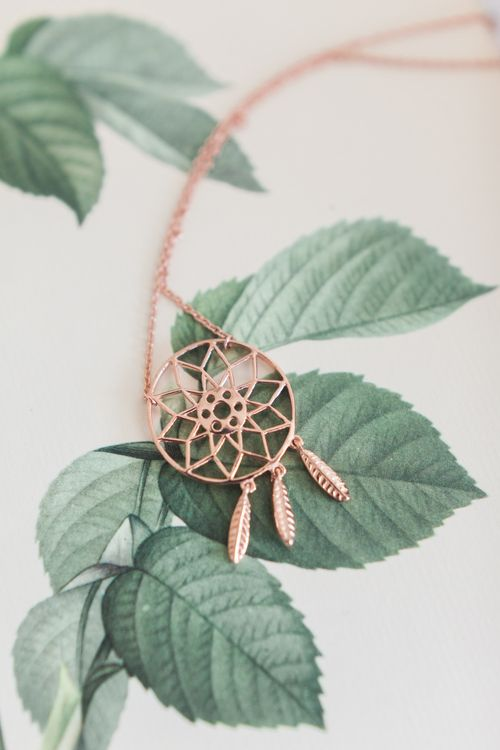Cooper Dream Catcher Necklace | Pink ASOS Bridesmaid Dresses | Pink & White At Home Marquee Wedding by Pretty Creative Styling | Jo Bradbury Photography
