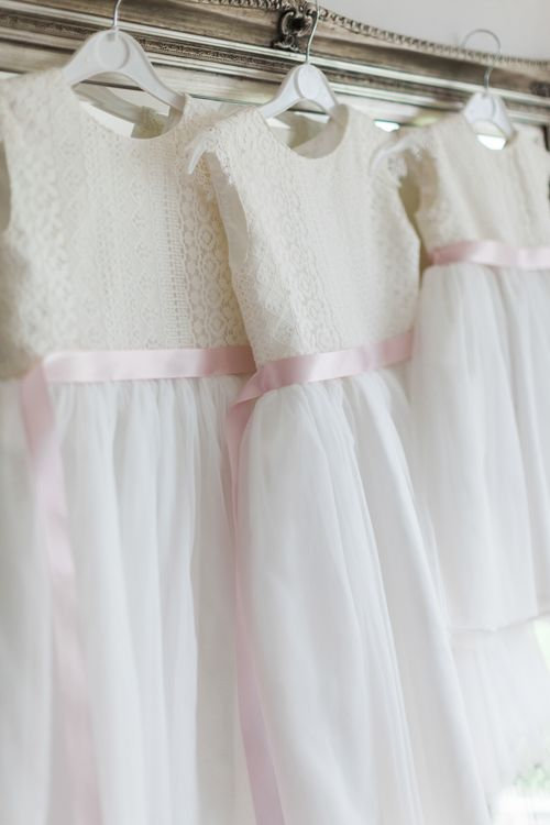 Flower Girl Dresses | Pink ASOS Bridesmaid Dresses | Pink & White At Home Marquee Wedding by Pretty Creative Styling | Jo Bradbury Photography