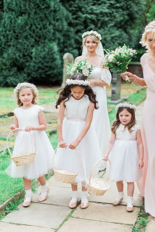 Cute Flower Girls | Pink & White At Home Marquee Wedding by Pretty Creative Styling | Jo Bradbury Photography