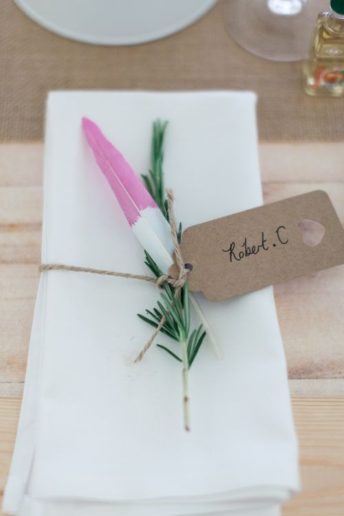 Place Setting | Pink & White At Home Marquee Wedding by Pretty Creative Styling | Jo Bradbury Photography