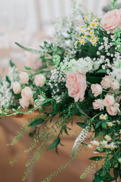 Pink, White and Green Wedding Flowers | Pink & White At Home Marquee Wedding by Pretty Creative Styling | Jo Bradbury Photography
