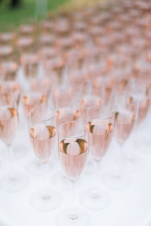 Pink Champagne Drinks Reception | Pink & White At Home Marquee Wedding by Pretty Creative Styling | Jo Bradbury Photography