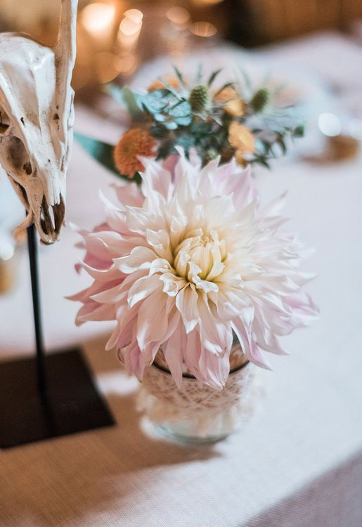 Dahlia Wedding Flowers // Macrame Ceremony Backdrop Rustic Hippie Wedding The Great Barn Dream Catchers And Oversized Florals Bride In Essence Of Australia Images Kathryn Hopkins